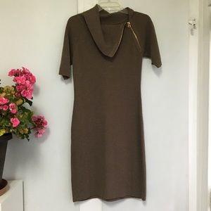 Calvin Klein oat/light brown sweater dress. Small.